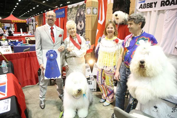 old english sheepdog booth